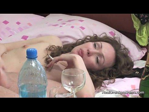 Пьяная сестра с братом Васей после бухла трах-бах