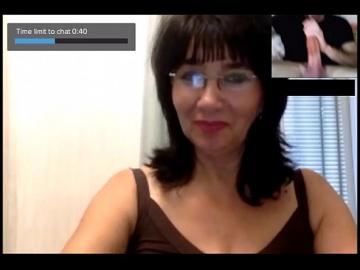 Chatroulette - Реакции зрелых женщин в привате на большой член