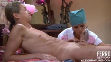Жмурик обалдел когда медсестра Lily M начала шлифовать его шишку